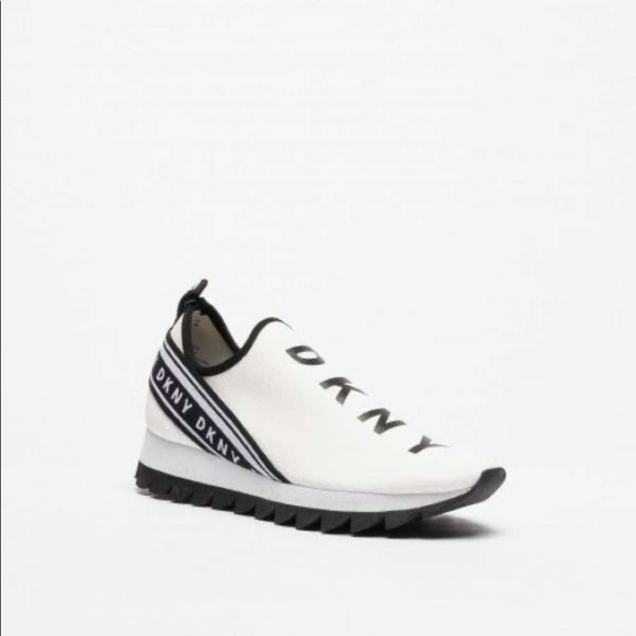 Shoes   Dkny Abbi White Sneakers   Poshmark